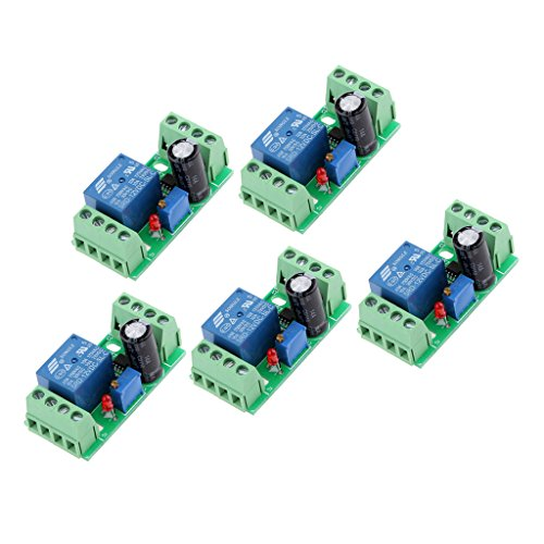 Grafik-timer (Sharplace 5pcs DC 12V Delay Relay NE555 Timer Switch Adjustable Zeitverzögerung Modul 0-10 Second)
