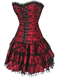 emmarcon sexy corsetto bustino burlesque stringi vita lingerie intimo da donna 6309