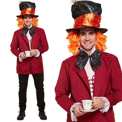 Mens Mad Hatter Kostüm Kostüm 3-teiliges Set (Mad Hatter Jacke)