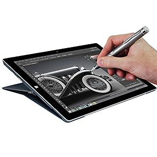 Navitech Grey Fine Point Digital Active Stylus Pen Compatible With Aluratek CINEPAD