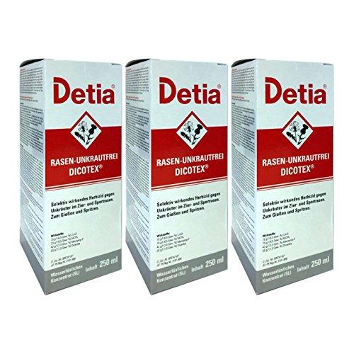 Detia - Rasen-Unkrautfrei Dicotex - 3 x 250 ml