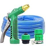 SHISHANG Pistolet à eau de lavage à air comprimé pistolet à haute pression manchon de tuyaux à la maison arrosage de fleurs outils de lavage de voiture ensemble contenant tube antigel anti-déflagrant , 50m