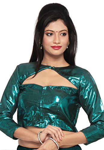 Utsav Fashion Cotton Shimmer Blouse in Teal Blue