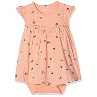 a51f74c169 NAME IT Baby-Mädchen Kleid NBFMINNIE Petra SS Dress WDI, Mehrfarbig  (Blooming Dahlia