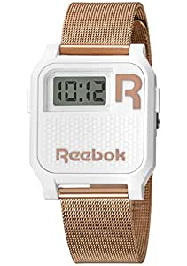 Reebok - RC-VNE-U9-PWS3-W3 - Montre Mixte - Quartz - Digital - Chronographe/Alarme - Bracelet Acier Inoxydable plaqué Or Rose Doré