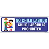 Amazing sign High Quality No child Labour Sign Board - Set of 2 nos.