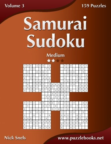 Samurai Sudoku - Medium - Volume 3-159 Puzzles