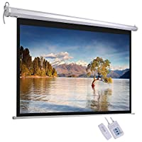 """ReaseJoy 72"""" Diagonal Electric Motorized Projector Screen 16:9 Matte White with Remote Control 159.4x89.6cm"""