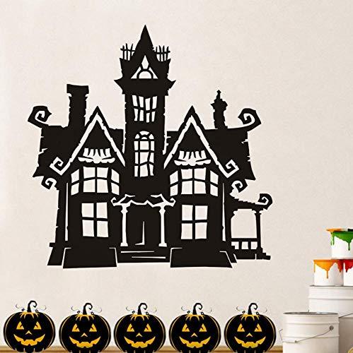 Wandtattoo Unheimlich Spukhaus Halloween Party 59X59Cm Wandtatoo Wandsticker Wandaufkleber Wanddekoration Für Entfernbare Wohnzimmer Schlafzimmer Flur