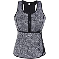 ANGOOL Mujer Chaleco de Sudoración Camiseta Deportival de Neopreno con Faja Reductora para Adelgazamente Barriga