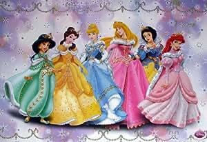 "WM-504 Disney Princess Collection Kid Girl Cartoon Wall Decoration Movie Poster Size 35""x23.5"""