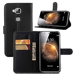 """Per Huawei G8 Cover , ivencase Moda Litchi Testura Magnetico Chiusura Portafoglio Slot Schede Flip Custodia PU Supporto Sottil Fit Huawei G8 (5.5"""") Nero"""