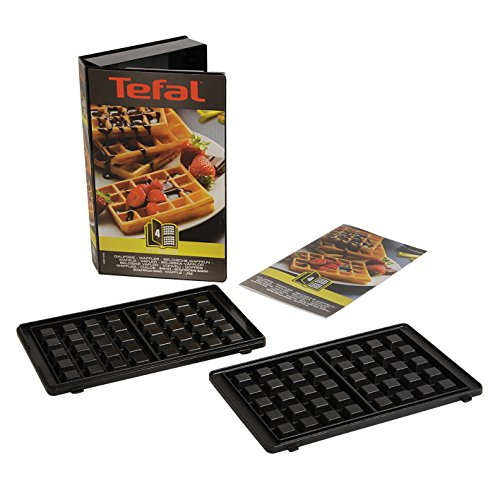 Tefal XA800412 Snack Collection Coffret de Plaque pour Gaufre avec Livre de Recettes 4,4 x 15,5 x 24,2 cm