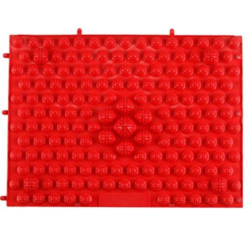 COLORFUL Fussreflexzonenmatte,Fußreflexzonen Matte, Reflexzonen Massage Matte 29×39cm (Rot)