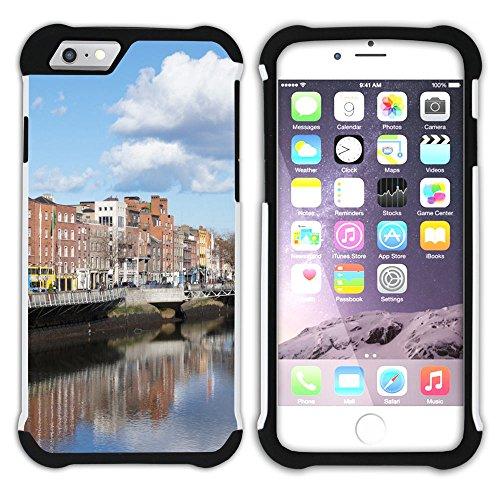 Graphic4You Dublin Irland Postkarte Aussicht Hart + Weiche Kratzfeste Hülle Case Schale Tasche Schutzhülle für Apple iPhone 6 Plus / 6S Plus Design #1