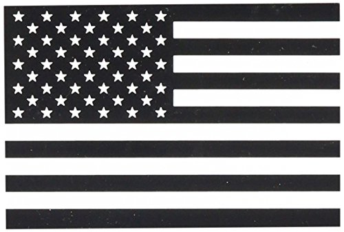 AMERICAN PRIDE FLAGS US Flag Black schwarz and White weiß weiß Rub - On Sticker AufkleberOfficially Licensed American Patriot Pride / Flag Artwork,(SIZE) B/W Long Lasting Sticker, Decal (Flag Patriot American)