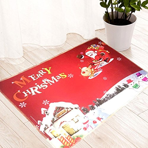 Mesh-wolle-garn (xshuai Merry Christmas Home Esszimmer HD bedruckt Wasserdicht Weiche Teppich Hall Bereich Teppich Schlafzimmer Rechteck Easimat Fußmatten Rutschfest Absorption waschbar Decor 40* 60cm, A)