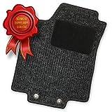 Bär-AfC HY01578 Doppelrippe Auto Fußmatten Nadelfilz Anthrazit | Rand Kettelung Anthrazit | Set 4-teilig | Passgenau für Modell Siehe Details