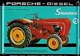 Traktor Mini-Blechschild Blechpostkarte - Porsche Diesel - 8x11cm Nostalgieschild Retro Schild Metal tin sign