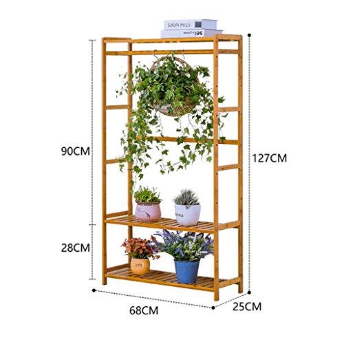 L'étagère En Bois Multicouche En Bois D'escalier D'usine Plante L'affichage Extérieur De Patio De Fleur 68 * 25 * 99CM ( taille : 68*25*127CM )