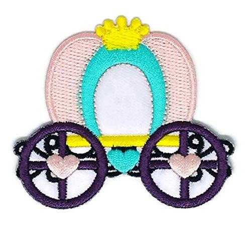 Pferd Kutsche Cartoon bestickt Nähen Eisen auf bestickte Applikation Craft handgefertigt Baby Kid Girl Frauen Tücher DIY Kostüm Zubehör