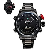 BDJ Multi Function Quartz Date Mens Military Sport Wrist LED Watch