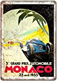 Forry Monaco Grand Prix Automobile Metall Poster Retro