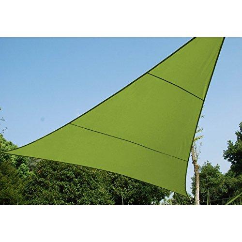 Hespéride JJ117747 Toldo vela parasol rectangular, 3 x 3 x 3 m, tela  impermeable, Verde