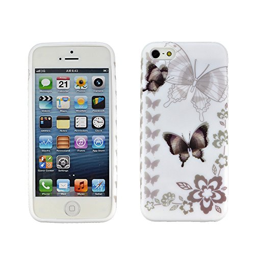 Pochettes simples Apple iPhone 5s Schmetterling bronze