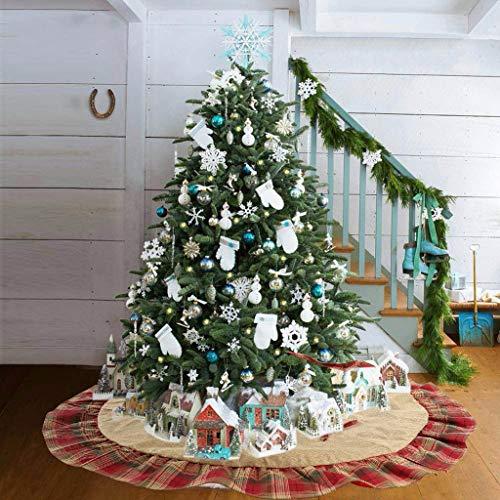 Falda de árbol de Navidad Sansee de diámetro 47.2 Pulgadas, Tela a ...