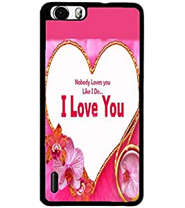 ColourCraft Love Design Back Case Cover for HUAWEI HONOR 6