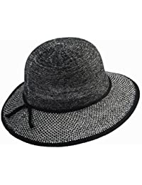 b496b36fcea22 QZ HOME Sombrero De Paja Primavera Y Verano Sombrero Grande Sra. Visor  Protección Solar Plegable