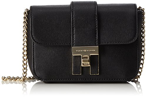 Tommy Hilfiger Th Heritage Mini Crossover - Borse a tracolla Donna, Schwarz (Black), 6x12x17 cm (L x H D)