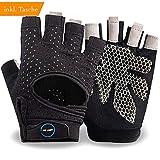 NoLimit® Fitness Handschuhe Light Trainingshandschuhe Sporthandschuhe Crossfit Handschuhe für Damen und Herren (Schwarz/Rosa)