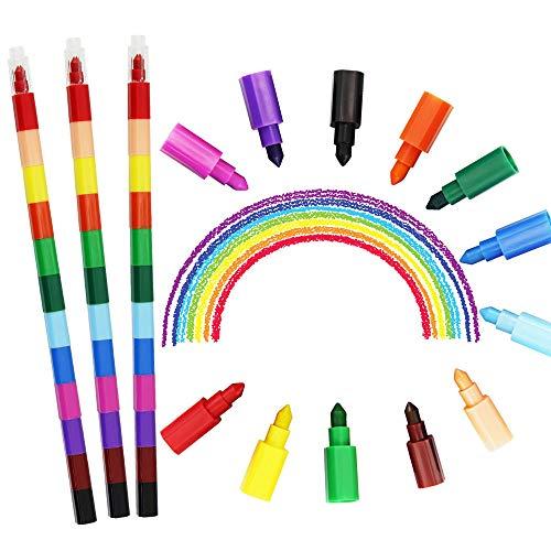 BUZIFU 12 Swop Spitzen Kreide Buntstifte, ideal für Partygeschenke, Partytaschenfüller, Verlosungen usw - Farbwechsel Stift, Stift mitgebsel, bleistifte bunt Kinder