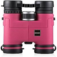 BNISE® - 8x32 Compatto e Leggero Binocolo Professionale- Magnesio corpo in lega - Completamente ottica Multi-coated e Fase Patinata Prismi Bak-4 - Luminoso e non falsata Immagine - Rosa Binoculars - Mini Zaino Mondiale