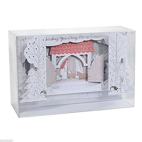 Hallmark Luxury 3D Christmas Card Pack Very Merry - 5 Cards, 1 Design