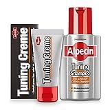 Alpecin Tuning Shampoo 200 ml + Alpecin Tuning Creme 50 ml - Dunkelt graues Haar sofort ab