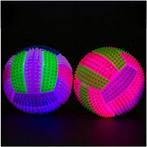 Yumimi88 LED Volleyball Blinklicht aufprallen Hedgehog Ball Kinder Spielzeug Farbwechsel (A) (Kleinkind-bett Auf Der Go)