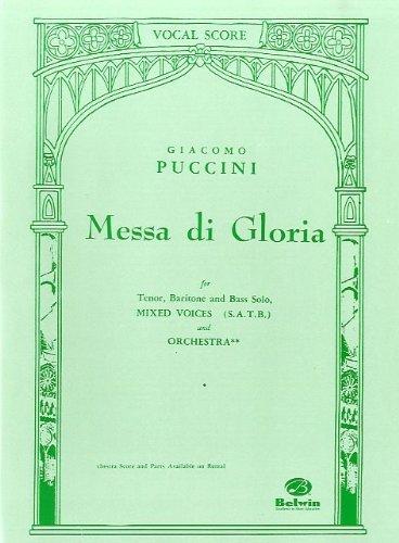 Giacomo Puccini: Messa Di Gloria (Vocal Score). Sheet Music for Tenor, Baritone Voice, Bass Voice, SATB, Piano Accompaniment
