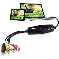 DIGITNOW! Video Grabber Überträgt Hi8 VHS auf Digital DVD für Windows 10 / Mac, Video Capture Karte mit Scart / AV Adapter