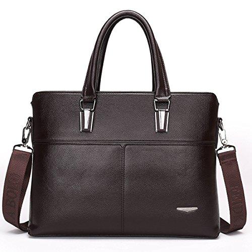 Männer Leder Business Taschen Hochwertige Leder Schultertasche Handtasche Aktenkoffer Brown