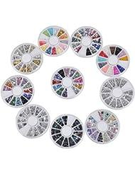 Biutee Model 10 Kit de Nail Art Décorations de 15000 strass paillettes