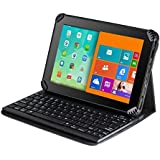 Navitech housse étui avec clavier Bluetooth amovible pour HUAWEI MediaPad M3 Lite