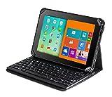 Navitech Fall / Abdeckung / Tasche / Hülle mit Standfunktion und QWERTZ Bluetooth Tastatur für das Samsung Galaxy Tab E SM-T560 9.6-Inch Tablet PC