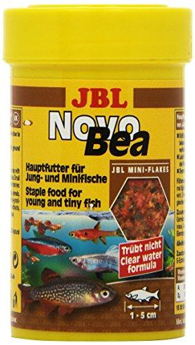 JBL Alleinfutter für kleine Aquarienfische und Jungfische, Flocken 100 ml, NovoBea 30160
