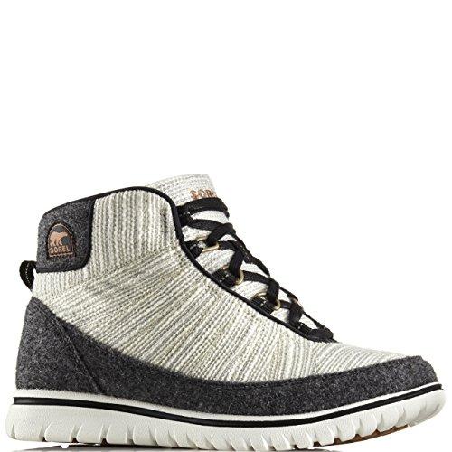 Sorel Damen Fashion Sneaker NL2327-010 TIVOLI GO HIGH Black Schwarz Grau Bisque, Schwarz