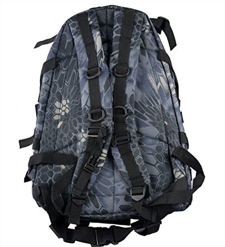 sacchetti da campeggio impermeabile zaino 3P Tad Militare Tattico Zaino Assault Borsa da viaggio per uomo, DCU Python Black