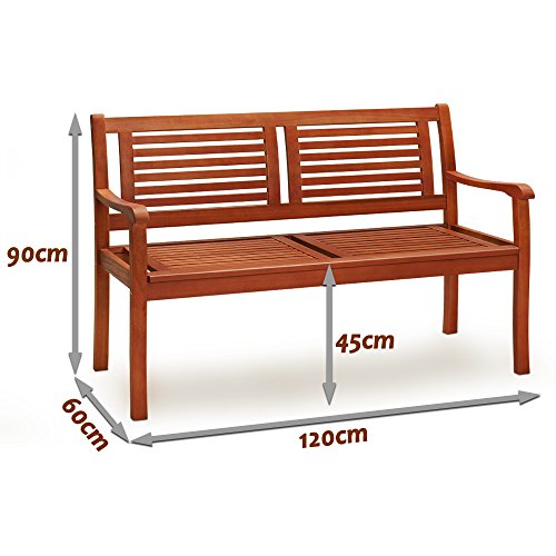 deuba-gartenbank-bologna-parkbank-2-sitzer-witterungsbestaendiges-eukalyptus-hartholz-ergonomisch-120-cm-320-kg-belastbarkeit-langlebig-stabil-balkonbank-sitzbank-holzbank-2