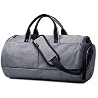 Fitness Sport Small Gym Bag with Shoes Compartment Waterproof Travel Duffel Bag with oded lock anti-sheft for Women and Men,grey